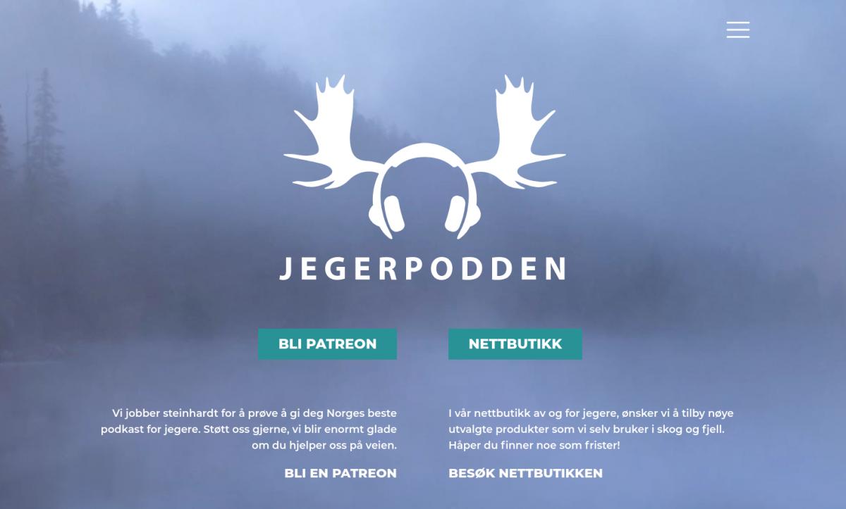 Doghouse: Logo og nettside for Jegerpodden