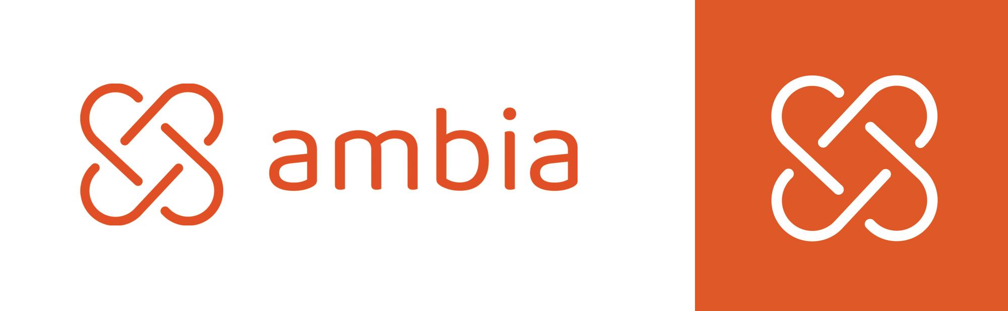 Ambia logotype designet av Doghouse