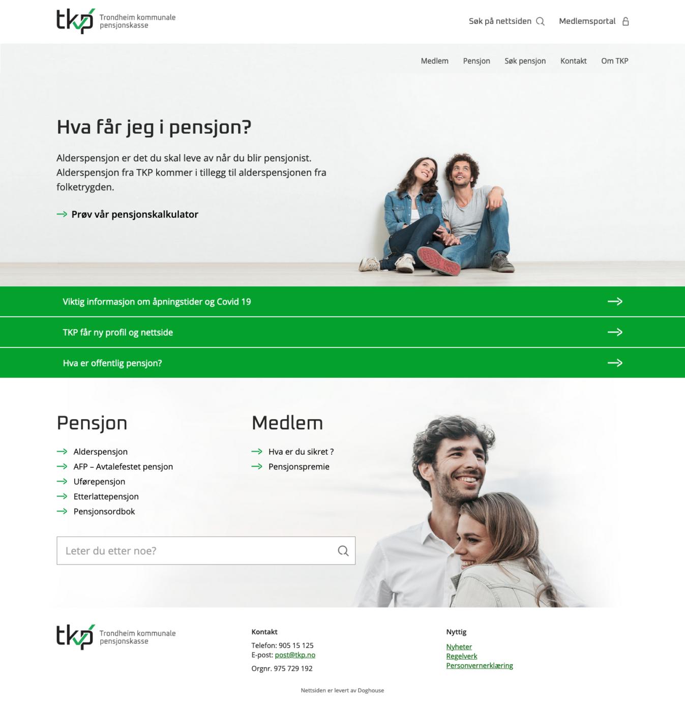 Nettside for Trondheim kommunale pensjonskasse